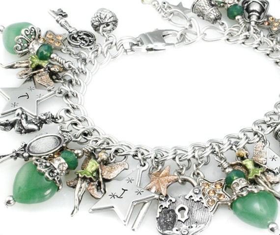 Tinkerbell Charm Bracelet: Tinkerbell Jewelry Tinkerbell Bracelet Silver By