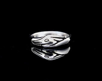 Heron Profile Ring - Wedding Ring, Eco friendly Sterling Silver, recycled sterling, Re-purposed silver,