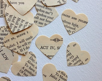 Vintage Wedding Decor- Romeo and Juliet  Heart Wedding Confetti no1