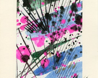 Art Abstraction 5 - Beautiful Original Hand Painted Abstract Blank Greeting Card by Kathy Morton Stanion EBSQ