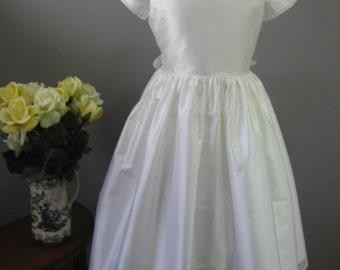 Girls Silk First Communion Dress - Patricia