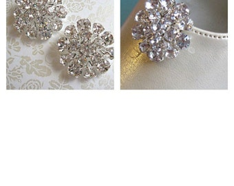 Wedding Shoe Clips, Bridal  Accessories, Vintage Style, Silver Crystal, Rhinestone shoe clip,  bridal shoes, wedding shoes