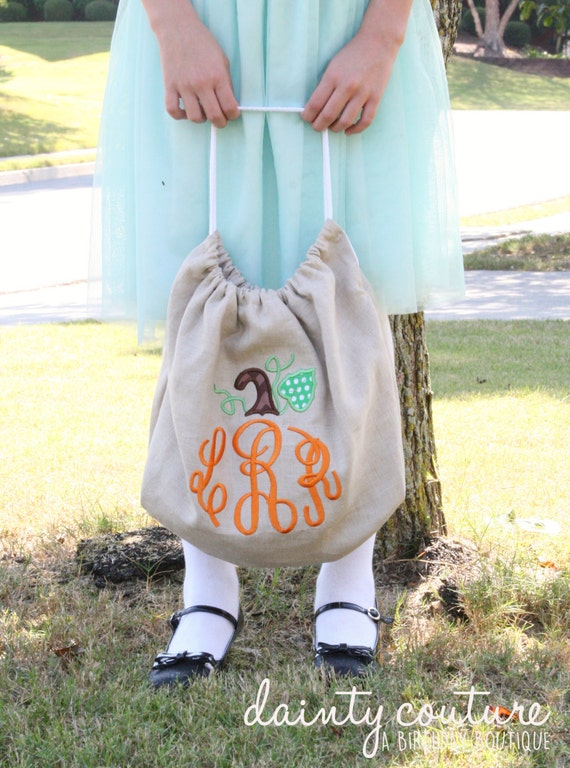 Boutique Halloween Bag - Trick or Treat Bag - Personalized/monogrammed bag