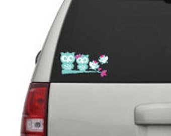 Our Family Is A Hoot Car Decal Family Car Decal Owl Family - Owl family custom vinyl decals for car