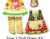 Lai White Dress KIT Size 1: Doll Dress Clothing Gnome Time for Tiny Dolls