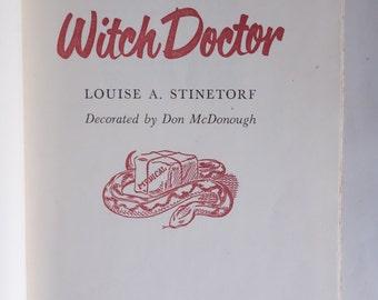 Sale! WHITE WITCH DOCTOR Belgian Congo White Nurse Vintage Fiction 1950 Rare Books