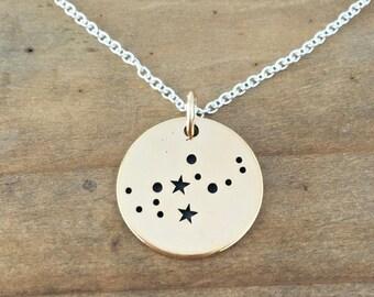 Virgo Necklace, Zodiac Jewelry, Zodiac Necklace, Constellation Jewelry, Virgo Jewelry, Stars, September Birthday, Christmas Gift for Her