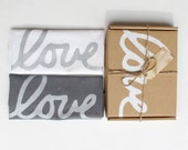 Love Dish Towel Set of 2 with Gift Box - Wedding Gift - Valentines Day Decoration