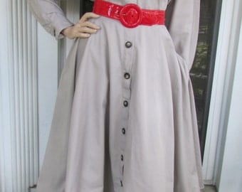 80s Shirt Rockabilly Dress Full Swing Vintage 1980s Cotton Blend Party Office 14