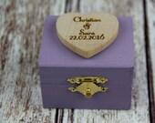 Lavender Ring Bearer Box, Lavender Wedding, Lavender Ring Bearer Pillow