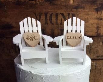 Adirondack Chair Cake Topper, Adirondack Chair, Adirondack Wedding