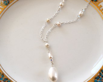 KISMET Vintage Inspired Freshwater Pearl Drop Necklace