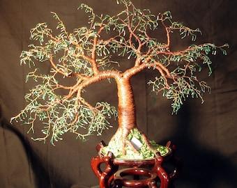 Cascade No. 4 Wire Tree Sculpture