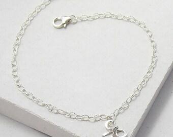 Tiny Bow Bracelet | Delicate Everyday Bracelet | Stacking Bracelet | Bridesmaid Gift | Sterling Silver