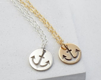 Anchor Charm Necklace | Nautical Sailor Jewelry | Everyday Jewelry | Layering Charm Necklace | Silver or Gold