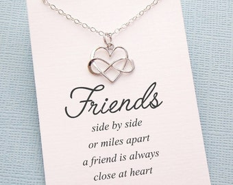 Best Friend Necklace | Infinity Necklace, Best Friend Gift, Friendship Necklace, Gift for Bestfriend, BFF, Sister Gift, Friendship | F04