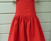 Valentine's Day Overall Skirt for Girls Size 2 through 7 Made to Order for Winter Holidays