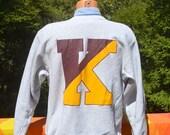 80s vintage sweatshirt KUTZTOWN university college champion reverse weave heathered gray rayon XL Large golden bears