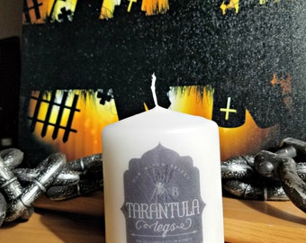 Tarantula Legs Apothecary Bottle Label 2x3 Pillar Candle