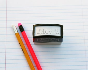 Cute kids name Rubber Stamp Self inking, Tracing Name Stamp, Cute Practice Stamp --5084