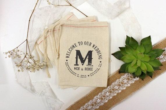 Custom Wedding Favor Bags, Muslin Bags, Personalized Wedding Favors ...