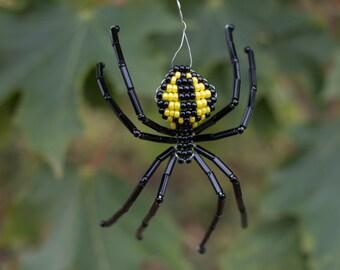 Black & Yellow Garden Beaded Spider