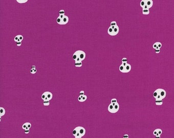 Cotton + Steel Boo! Charms Berry 100% Cotton Fabric