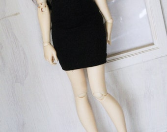 Doll BJD dolfie Minifee clothes Black pencil skirt by MonstroDesigns
