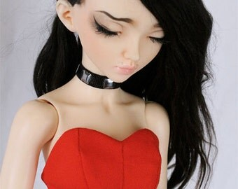 BJD clothes Slim MSD Minifee Red Bodice corset bralet MonstroDesigns