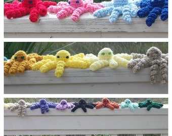 Take Two Baby Octopus or Pick-a-Pair in Plush Toy Kawaii Cthulhu - Buy Two Together and Save - Choose your Colors