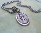 St. Dymphna, Patron Saint of Victims of Depression, Anxiety, OCD, Mental Disorders, Holy Medal Necklace, Catholic Jewelry