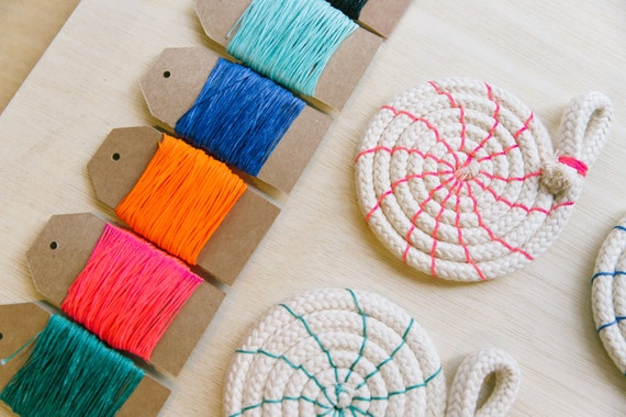 Rope coasters craft kit diy tutorial colour instructions for rope coasters craft kit diy tutorial colour instructions for coil coasters make it yourself craft kit sewing kit coil rope craft from solutioingenieria Image collections