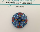 One of a Kind Polymer Clay Button