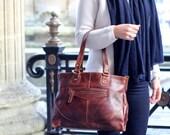 Leather Handbag Purse Bag, distressed vintage leather