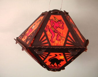 Rare Antique Halloween Paper Lantern Germany 1920's