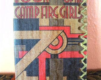 1936 Book of the Camp Fire Girls Customized Art Deco Cover