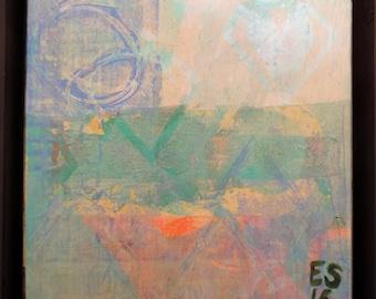 "Custom ""Circle"" - 8 x 8, Acrylic painting, ready to hang, ORIGINAL"