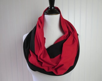 Atlanta Falcons Scarf - Kansas City Chiefs - Red & Black Infinity Scarf -  Arizona Cardinals Scarf - Team Scarf