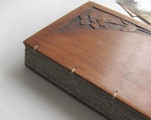 Photo album Guest book Wooden covers Flower