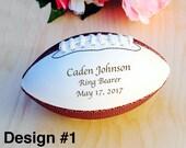 Ring Bearer Gift, Engraved Football, Mini Football, Groomsmen, Engraved Gift, Christmas Gift, Sports, Keepsake, Design #1
