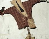Ed the Scarecrow, A Primitive Folk Art Pattern by Raven's Haven