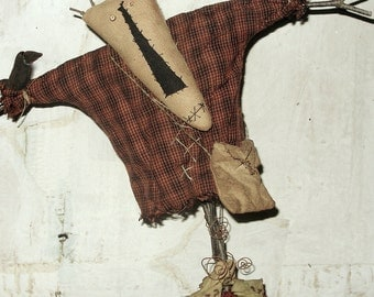 Ed the Scarecrow, A Primitive Folk Art Pattern by Raven's Haven