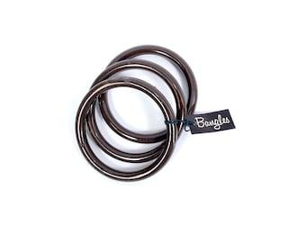 Vintage Bangle Bracelets - Brown Bangle Bracelets - 60s Bangles - 60s Bracelets - 60s Brown - Mod - NOS - Plastic Bangles - 60s Plastic