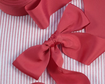 Persimmon Vintage French Ribbon Rayon For Millinery, Bridal, Hat Making, Dress Making 2 Inch Wide