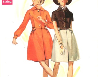 1960's Dress with Front Pleat Bust 34 Butterick 5114