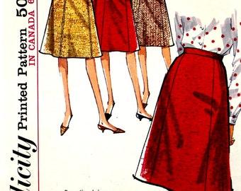 UNCUT Gored Skirt Pattern Waist 28 Simplicity 5624
