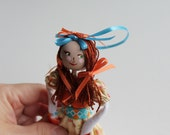 Handmade Cloth Doll May Day Doll Hanging Ornament