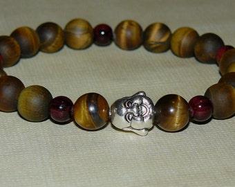 "Buddha Tiger Eye ""Wisdom"" Unisex Bracelet"