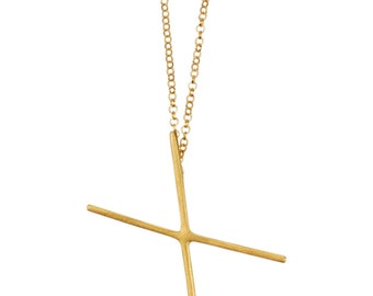 SALE 50% OFF Gold X Necklace, Minimalist X Necklace, Everyday Gold Necklace, Geometric Necklace, Gold Cross Necklace, Dainty Gold Necklace
