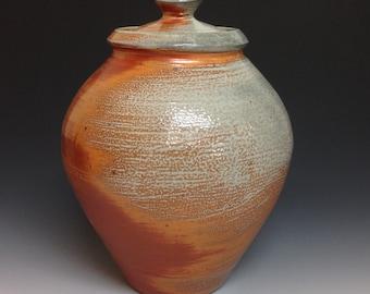 Storage Jar. Soda Fired Stoneware